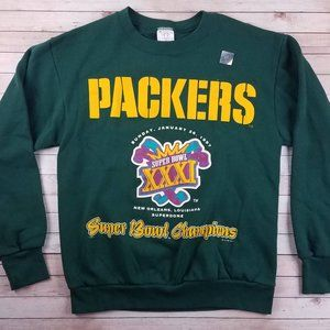 VTG 90s Green Bay Packers Super Bowl Sweatshirt